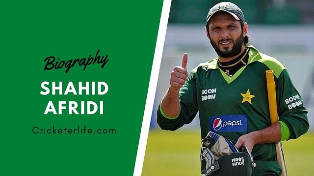 Shahid Afridi Biography, age, height, stats, wife