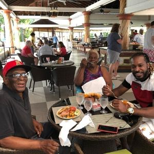 chris gayle father and mother