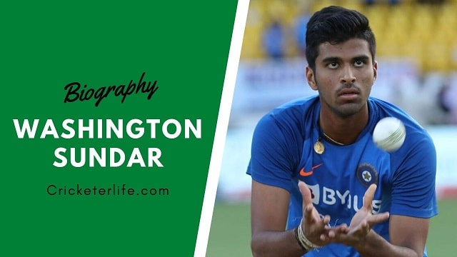 Washington Sundar biography