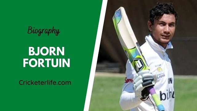 Bjorn Fortuin biography, age, height, wife, family, etc.