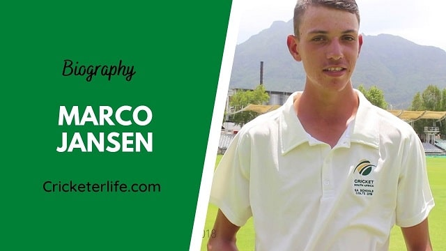 Marco Jansen biography, age, height, wife, family, etc.