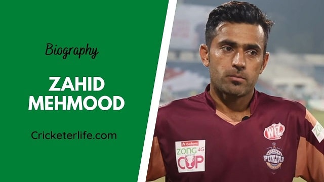 Zahid Mehmood biography, age, height, wife, family, etc.