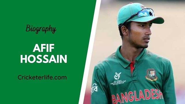 Afif Hossain biography, age, height, wife, family, etc.