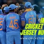 Indian cricket jersey numbers or shirt numbers in India